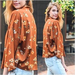Sweaters - Gorgeous Bohemian Floral Lightweight Cardi O/S